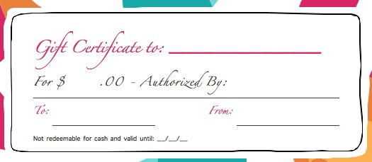 download gift certificate template – Birthday Gift Coupon Template