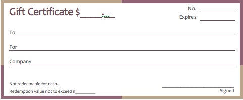 gift card template microsoft word – Ms Word Gift Certificate Template