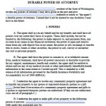 durable power of attorney washington state pdf
