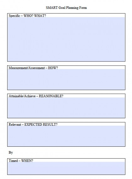 download smart goals worksheet templates