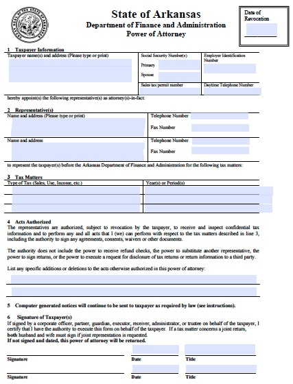 Download Arkansas Power Of Attorney Forms And Templates