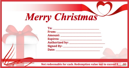 Download Christmas Gift Certificate Templates wikiDownload – Santa Gift Certificate Template