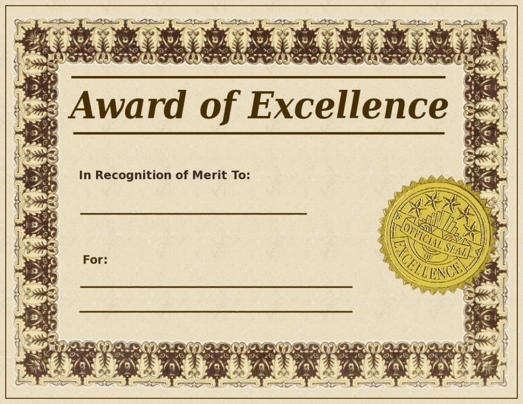 award-of-excellence-template