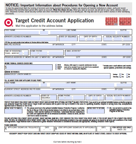 target-credit-card-application - wikiDownload