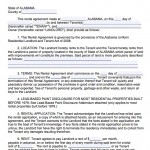 12 month lease agreement template - download alabama rental lease agreement forms and