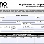Download AMC Theatres Job Application Form | Adobe PDF wikiDownload
