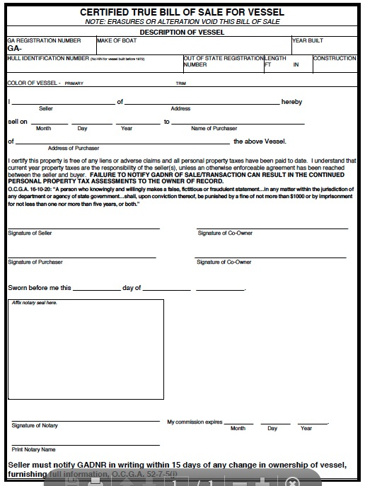 download georgia bill of sale forms and templates wikidownload