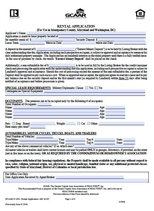 download washington d c  residential lease agreement forms