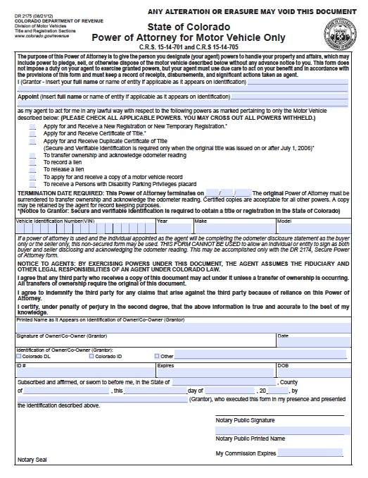Download Colorado Power Of Attorney Forms And Templates Wikidownload