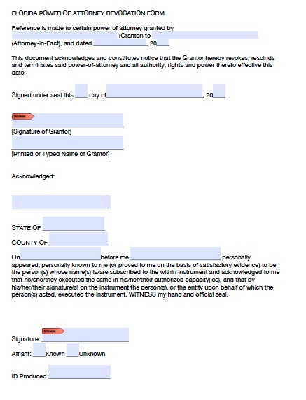 Download Florida Power Of Attorney Forms And Templates Pdf Word