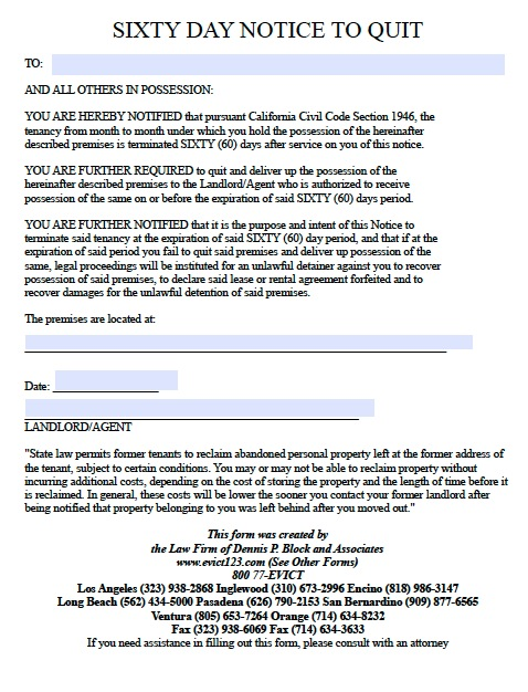 download california eviction notice forms