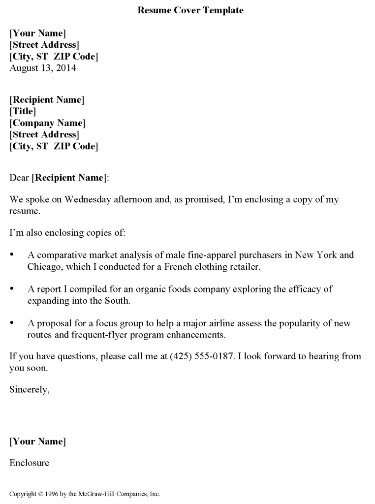 Resume Cover Template Wikidownload Wikidownload