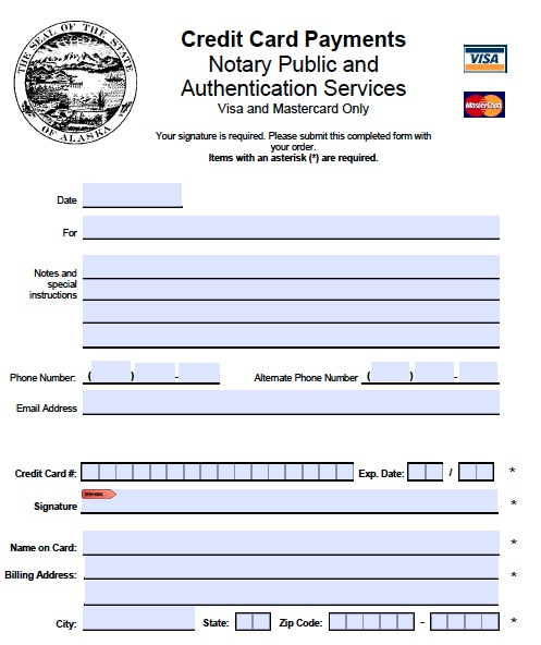 Alaska Credit Card Login >> Download Alaska Notary Public Forms wikiDownload