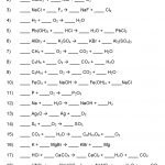Chapter 5 - Balancing Chemical Equations Worksheets (ANSWERS ...