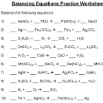 Introduction to Balancing Chemical Equations Worksheet | Equation ...