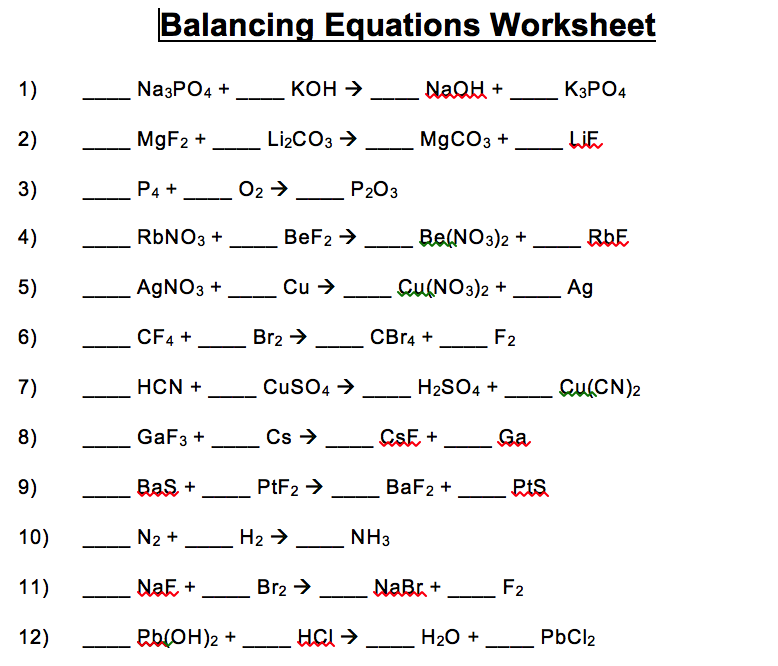 download balancing equations worksheet