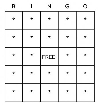 This is a graphic of Printable Bingo Chips inside green
