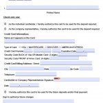 credit card authorization form for hotel