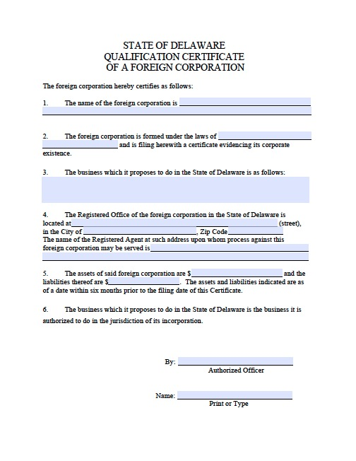 Download Delaware Articles of Incorporation Forms wikiDownload