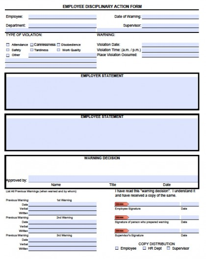 Mesmerizing image for free printable employee write up form