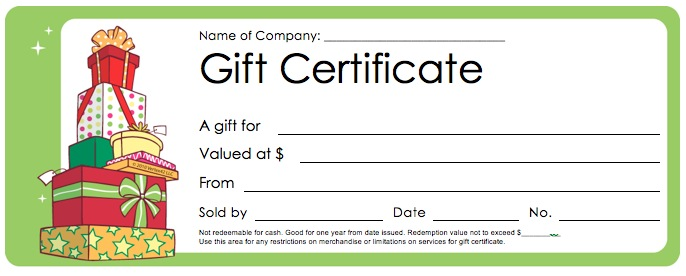 Download christmas gift certificate templates wikidownload for Free gift certificate template word