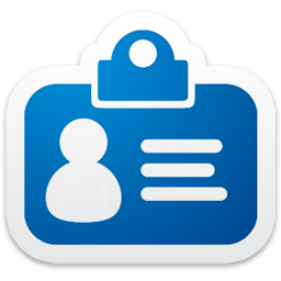 Id Card Icon on Employee Authorization Card