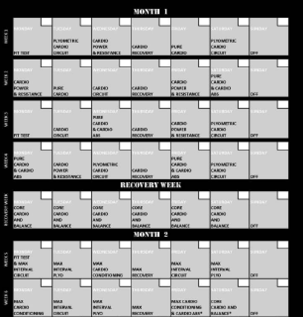 Sizzling image with regard to insanity schedule printable