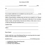 Download Kansas Eviction Notice Forms   Notice To Quit | PDF Templates  WikiDownload  Eviction Form Template