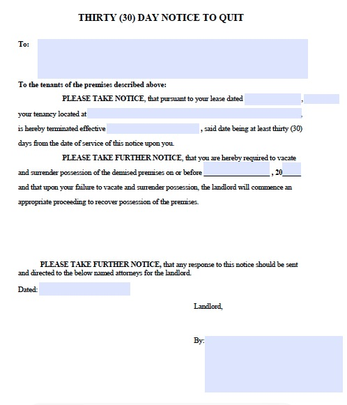 download fillable 30 day notice templates for landlords for tenants pdf wikidownload