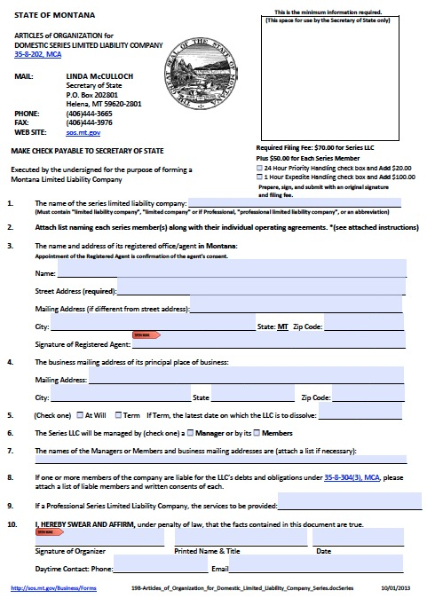 montana-domestic-series-llc-articles-of-organization-form Application Person Forms on for disowning, ncic missing,