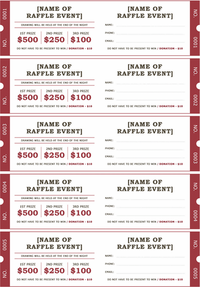 download printable raffle ticket templates