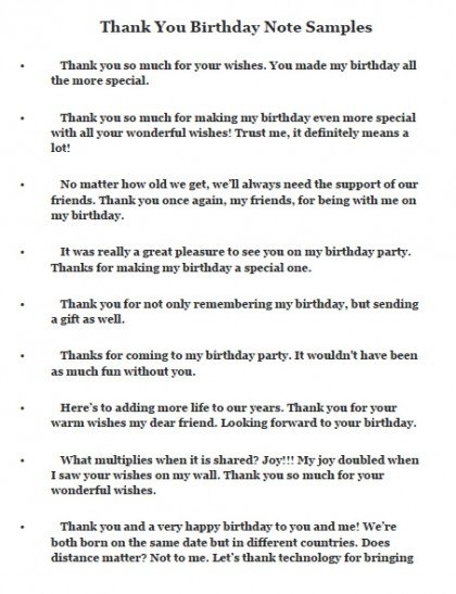 Download Thank You Notes And Messages For Birthday Wishes Wikidownload