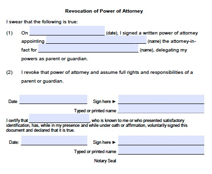 Download Utah Revocation Power of Attorney Form wikiDownload