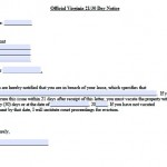 30 day eviction notice form virginia
