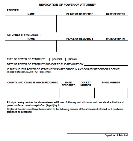 download virginia revocation power of attorney form