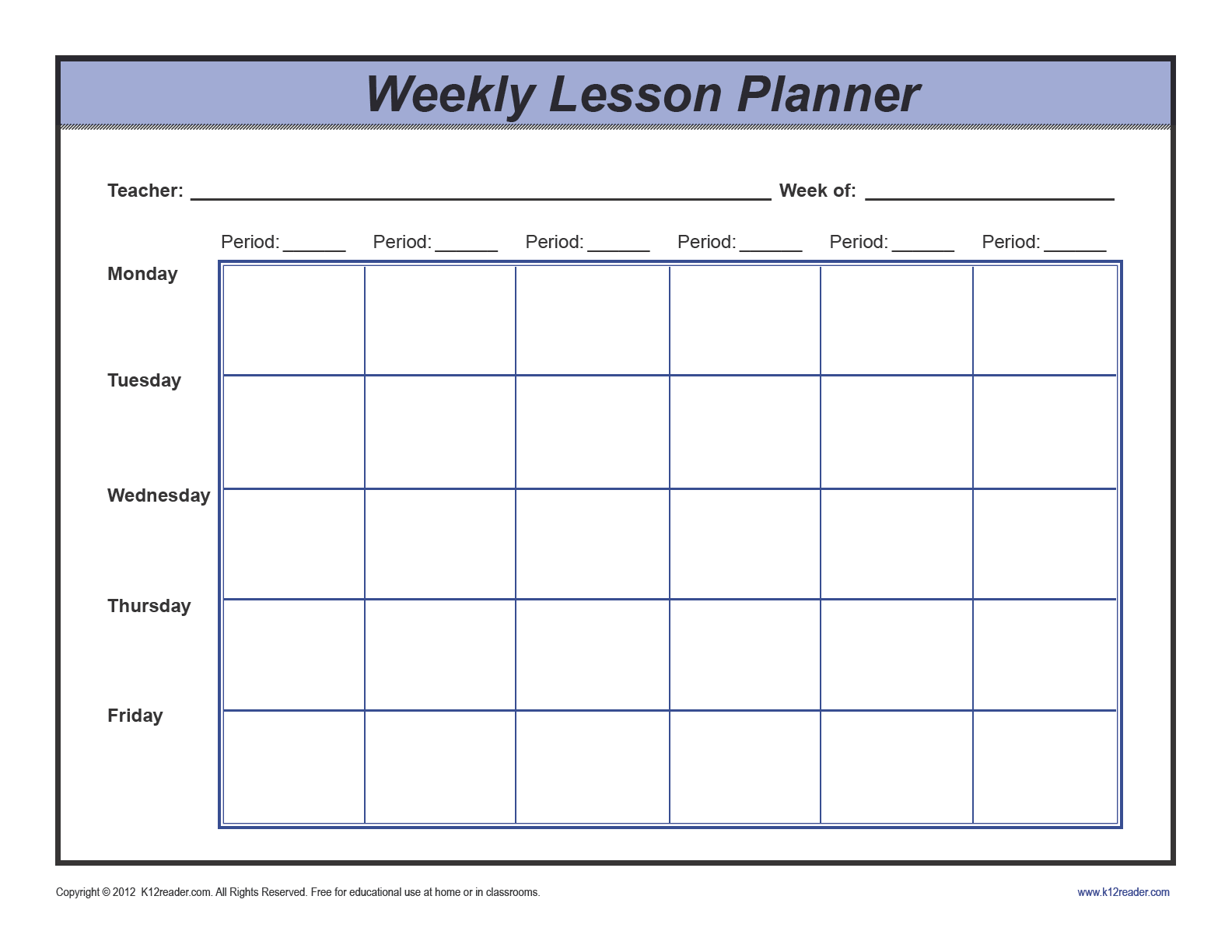 Download weekly lesson plan template preschool pdf for Week long lesson plan template