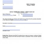 Download wisconsin eviction notice forms notice to quit pdf 28 day notice altavistaventures Choice Image
