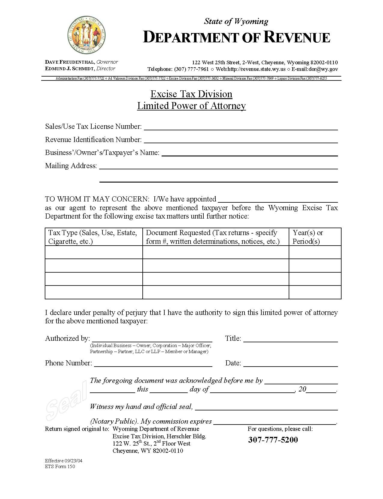 Download wyoming tax power of attorney form 2848 wikidownload sponsored links falaconquin